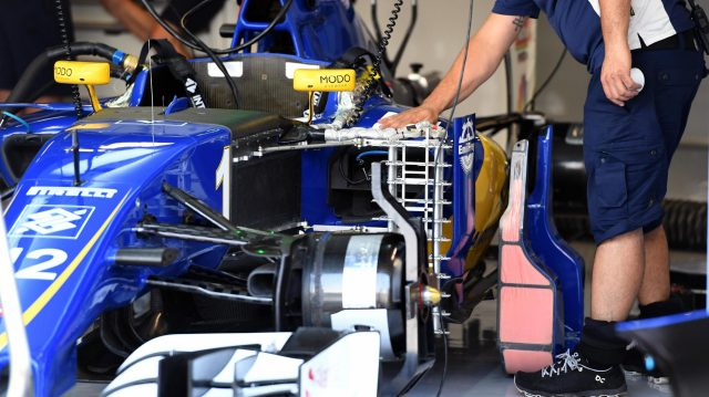 Sauber C35 with aero sensor at Formula One World Championship, Rd14, Italian Grand Prix, Practice, Monza, Italy, Friday 2 September 2016. &copy&#x3b; Sutton Images