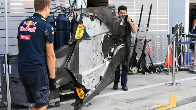 Red Bull Racing RB12 floor at Formula One World Championship, Rd14, Italian Grand Prix, Practice, Monza, Italy, Friday 2 September 2016. &copy&#x3b; Sutton Images