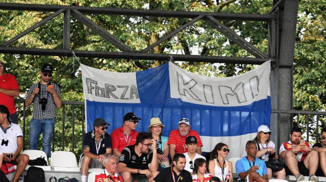Kimi Raikkonen (FIN) Ferrari fans and banner at Formula One World Championship, Rd14, Italian Grand Prix, Qualifying, Monza, Italy, Saturday 3 September 2016. &copy&#x3b; Sutton Images