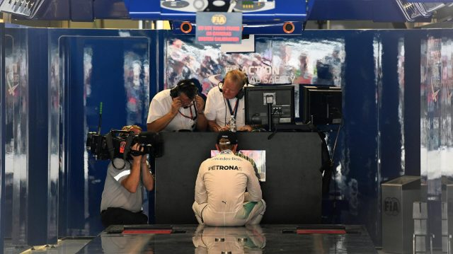 Nico Rosberg (GER) Mercedes AMG F1 in parc ferme at Formula One World Championship, Rd14, Italian Grand Prix, Qualifying, Monza, Italy, Saturday 3 September 2016. &copy&#x3b; Sutton Images