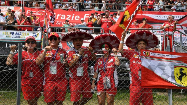 Ferrari SF16-H fans at Formula One World Championship, Rd14, Italian Grand Prix, Race, Monza, Italy, Sunday 4 September 2016. &copy&#x3b; Sutton Images