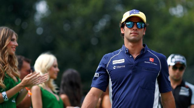 Felipe Nasr (BRA) Sauber on the drivers parade at Formula One World Championship, Rd14, Italian Grand Prix, Race, Monza, Italy, Sunday 4 September 2016. &copy&#x3b; Sutton Images