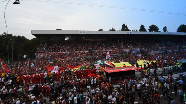 Fans and giant flag at Formula One World Championship, Rd14, Italian Grand Prix, Race, Monza, Italy, Sunday 4 September 2016. &copy&#x3b; Sutton Images