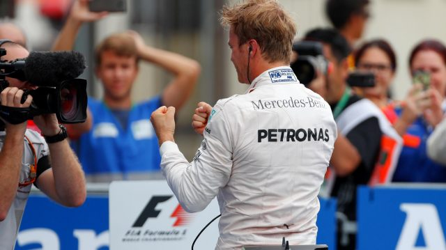 Race winner Nico Rosberg (GER) Mercedes AMG F1 celebrates in parc ferme at Formula One World Championship, Rd14, Italian Grand Prix, Race, Monza, Italy, Sunday 4 September 2016. &copy&#x3b; Sutton Images
