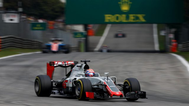 Romain Grosjean (FRA) Haas VF-16 at Formula One World Championship, Rd14, Italian Grand Prix, Race, Monza, Italy, Sunday 4 September 2016. &copy&#x3b; Sutton Images