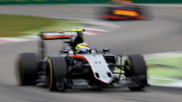 Sergio Perez (MEX) Force India VJM09 at Formula One World Championship, Rd14, Italian Grand Prix, Race, Monza, Italy, Sunday 4 September 2016. &copy&#x3b; Sutton Images