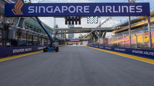 Track view at Formula One World Championship, Rd15, Singapore Grand Prix, Preparations, Marina Bay Street Circuit, Singapore, Thursday 15 September 2016. &copy&#x3b; Sutton Images