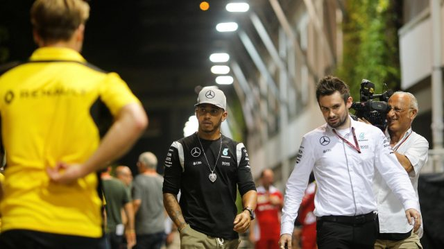 Lewis Hamilton (GBR) Mercedes AMG F1 at Formula One World Championship, Rd15, Singapore Grand Prix, Preparations, Marina Bay Street Circuit, Singapore, Thursday 15 September 2016. &copy&#x3b; Sutton Images