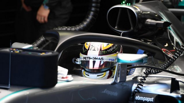 Lewis Hamilton (GBR) Mercedes-Benz F1 W07 Hybrid and halo at Formula One World Championship, Rd15, Singapore Grand Prix, Practice, Marina Bay Street Circuit, Singapore, Friday 16 September 2016. &copy&#x3b; Sutton Images
