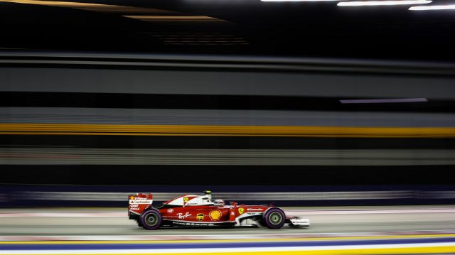Kimi Raikkonen (FIN) Ferrari SF16-H at Formula One World Championship, Rd15, Singapore Grand Prix, Practice, Marina Bay Street Circuit, Singapore, Friday 16 September 2016. &copy&#x3b; Sutton Images