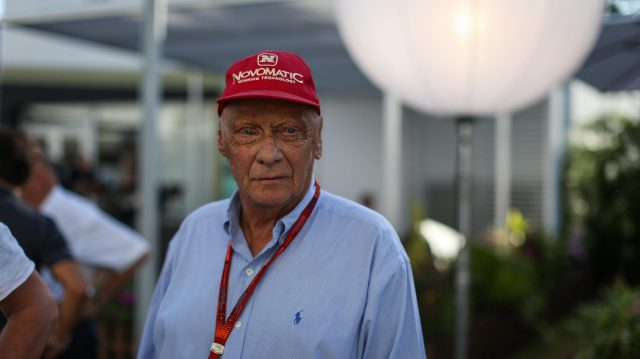Niki Lauda (AUT) Mercedes AMG F1 Non-Executive Chairman at Formula One World Championship, Rd15, Singapore Grand Prix, Practice, Marina Bay Street Circuit, Singapore, Friday 16 September 2016. &copy&#x3b; Sutton Images
