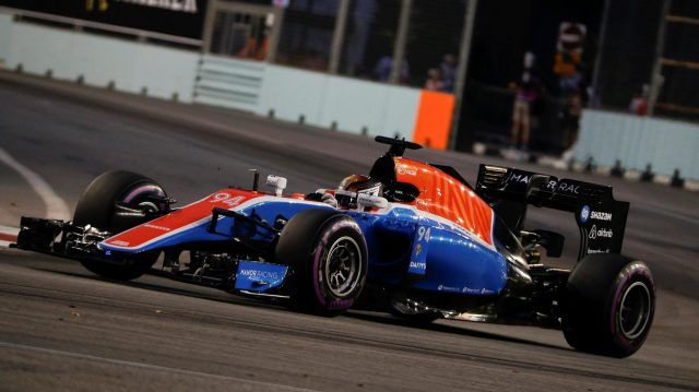 Pascal Wehrlein (GER) Manor Racing MRT05 at Formula One World Championship, Rd15, Singapore Grand Prix, Qualifying, Marina Bay Street Circuit, Singapore, Saturday 17 September 2016. &copy&#x3b; Sutton Images