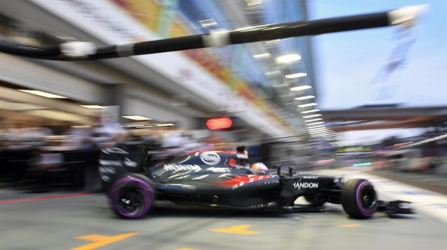 Fernando Alonso (ESP) McLaren MP4-31 at Formula One World Championship, Rd15, Singapore Grand Prix, Qualifying, Marina Bay Street Circuit, Singapore, Saturday 17 September 2016. &copy&#x3b; Sutton Images