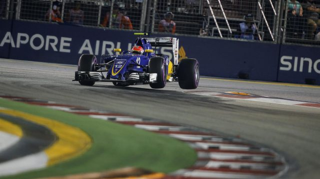 Felipe Nasr (BRA) Sauber C35 at Formula One World Championship, Rd15, Singapore Grand Prix, Qualifying, Marina Bay Street Circuit, Singapore, Saturday 17 September 2016. &copy&#x3b; Sutton Images