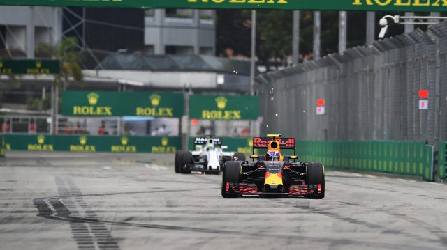 Max Verstappen (NED) Red Bull Racing RB12 at Formula One World Championship, Rd15, Singapore Grand Prix, Qualifying, Marina Bay Street Circuit, Singapore, Saturday 17 September 2016. &copy&#x3b; Sutton Images
