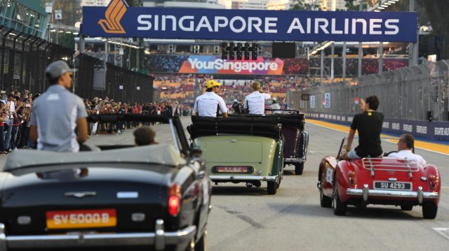 Drivers parade at Formula One World Championship, Rd15, Singapore Grand Prix, Race, Marina Bay Street Circuit, Singapore, Sunday 18 September 2016. &copy&#x3b; Sutton Images