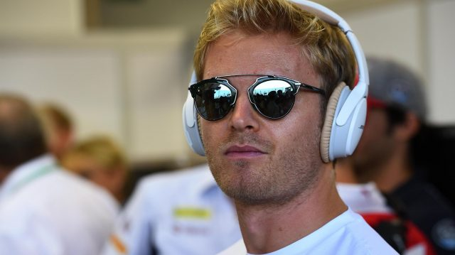 Nico Rosberg (GER) Mercedes AMG F1 with headphones on the drivers parade at Formula One World Championship, Rd15, Singapore Grand Prix, Race, Marina Bay Street Circuit, Singapore, Sunday 18 September 2016. &copy&#x3b; Sutton Images