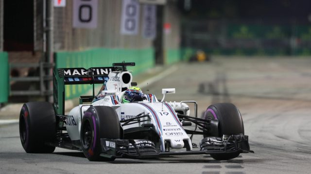 Felipe Massa (BRA) Williams FW38 at Formula One World Championship, Rd15, Singapore Grand Prix, Race, Marina Bay Street Circuit, Singapore, Sunday 18 September 2016. &copy&#x3b; Sutton Images