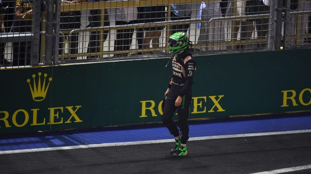 Race retiree Nico Hulkenberg (GER) Force India F1 at Formula One World Championship, Rd15, Singapore Grand Prix, Race, Marina Bay Street Circuit, Singapore, Sunday 18 September 2016. &copy&#x3b; Sutton Images