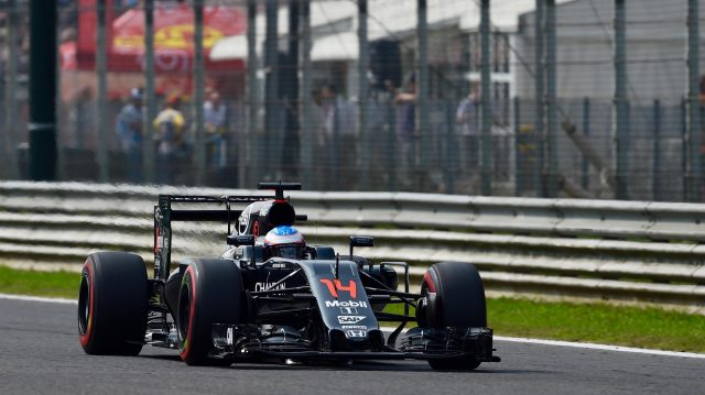 Alonso scored the first fastest lap for a Honda-powered car since 1992. &copy&#x3b; Sutton Images