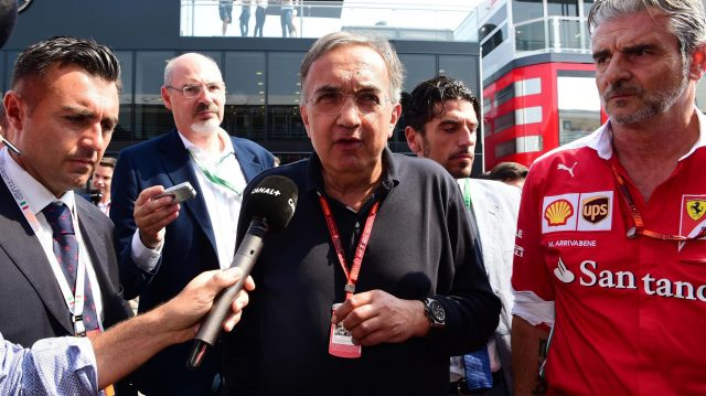 Sergio Marchionne (ITA) CEO FIAT and Maurizio Arrivabene (ITA) Ferrari Team Principal at Formula One World Championship, Rd14, Italian Grand Prix, Qualifying, Monza, Italy, Saturday 3 September 2016. &copy&#x3b; Sutton Images