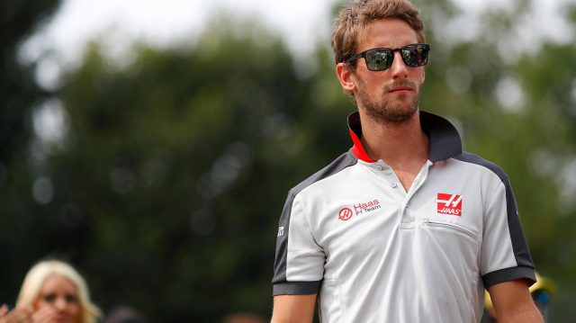 Romain Grosjean (FRA) Haas F1 on the drivers parade at Formula One World Championship, Rd14, Italian Grand Prix, Race, Monza, Italy, Sunday 4 September 2016. &copy&#x3b; Sutton Images