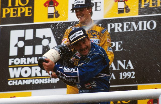 No shortage of success for Nigel Mansell in 1992 - but even so he would not defend his championship crown the following year. &copy&#x3b; Sutton Motorsport Images