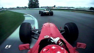 VIDEO: Classic onboard - Schumacher battles past Coulthard at Indy