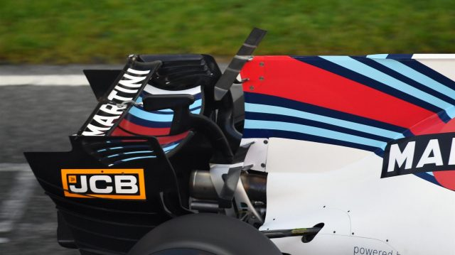 Williams FW40 rear wing at Formula One Testing, Day One, Barcelona, Spain, 27 February 2017. &copy&#x3b; Sutton Images