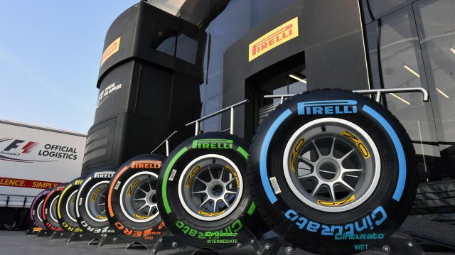 Pirelli tyres at Formula One Testing, Day One, Barcelona, Spain, 27 February 2017. &copy&#x3b; Sutton Images