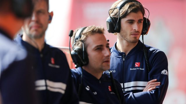Antonio Giovinazzi (ITA) Sauber at Formula One Testing, Day One, Barcelona, Spain, 27 February 2017. &copy&#x3b; Sutton Images