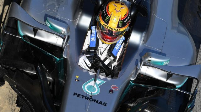 Lewis Hamilton (GBR) Mercedes-Benz F1 W08 Hybrid at Formula One Testing, Day One, Barcelona, Spain, 27 February 2017. &copy&#x3b; Sutton Images