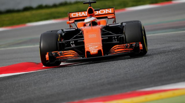 Stoffel Vandoorne (BEL) McLaren MCL32 at Formula One Testing, Day Two, Barcelona, Spain, 28 February 2017. &copy&#x3b; Sutton Images
