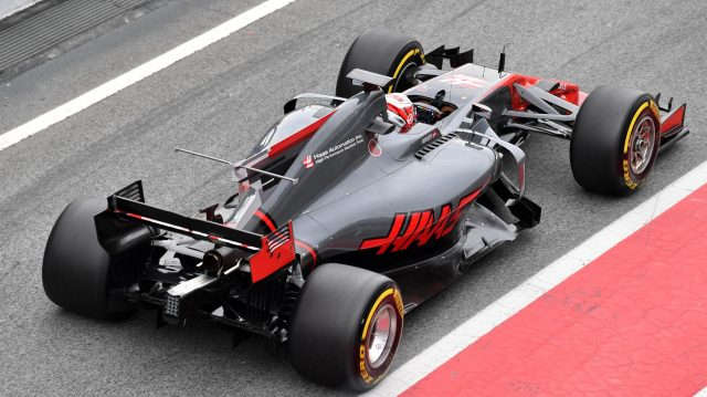 Kevin Magnussen (DEN) Haas VF-17 at Formula One Testing, Day Two, Barcelona, Spain, 28 February 2017. &copy&#x3b; Sutton Images
