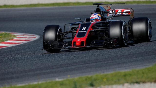 Romain Grosjean (FRA) Haas VF-17 at Formula One Testing, Day Three, Barcelona, Spain, 1 March 2017. &copy&#x3b; Sutton Images
