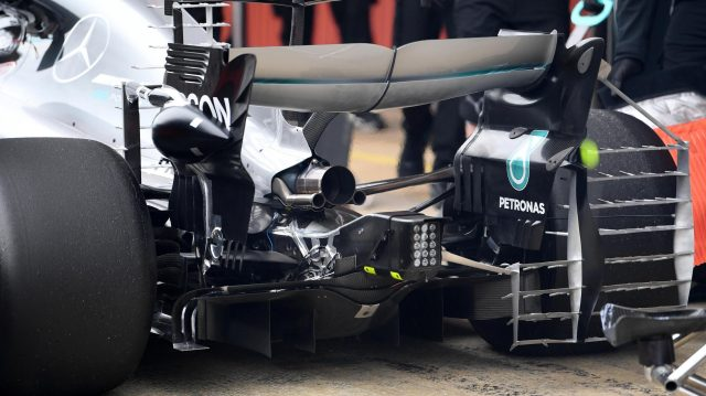 Mercedes-Benz F1 W08 Hybrid rear detail at Formula One Testing, Day Three, Barcelona, Spain, 1 March 2017. &copy&#x3b; Sutton Images