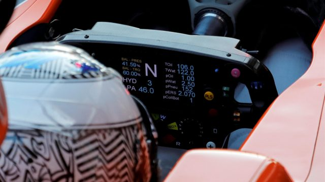 Fernando Alonso (ESP) McLaren MCL32 steering wheel detail at Formula One Testing, Day Three, Barcelona, Spain, 1 March 2017. &copy&#x3b; Sutton Images