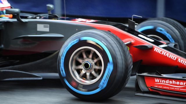 Romain Grosjean (FRA) Haas VF-17 with Pirelli wet weather tyre at Formula One Testing, Day Four, Barcelona, Spain, 2 March 2017. &copy&#x3b; Sutton Images