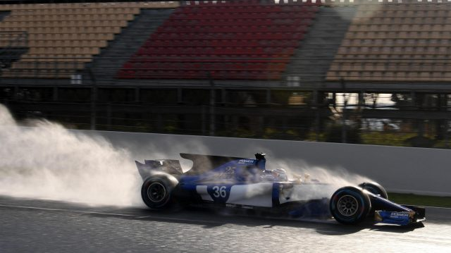 Antonio Giovinazzi (ITA) Sauber C36 at Formula One Testing, Day Four, Barcelona, Spain, 2 March 2017. &copy&#x3b; Sutton Images