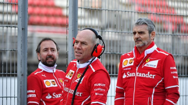Maurizio Arrivabene (ITA) Ferrari Team Principal and Jock Clear (GBR) Ferrari Chief Engineer at Formula One Testing, Day One, Barcelona, Spain, 7 March 2017. &copy&#x3b; Sutton Images