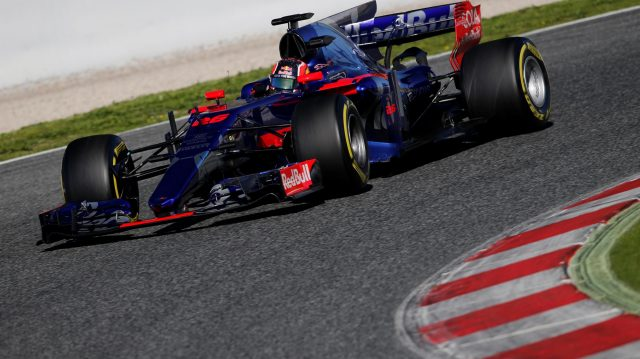 Daniil Kvyat (RUS) Scuderia Toro Rosso STR12 at Formula One Testing, Day One, Barcelona, Spain, 7 March 2017. &copy&#x3b; Sutton Images