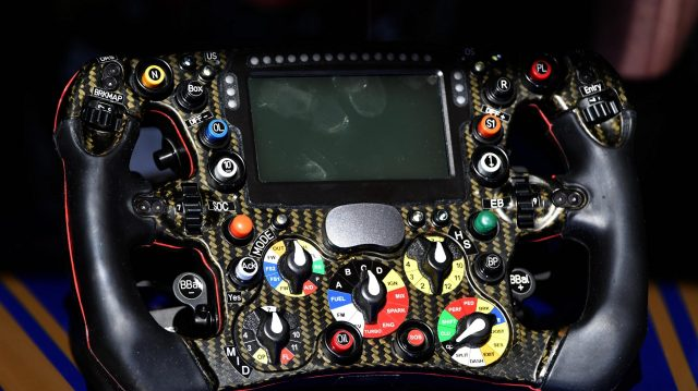 The steering wheel detail of Pascal Wehrlein (GER) Sauber C36 at Formula One Testing, Day One, Barcelona, Spain, 7 March 2017. &copy&#x3b; Sutton Images