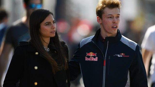 Daniil Kvyat (RUS) Scuderia Toro Rosso and girlfriend Kelly Piquet (BRA) at Formula One Testing, Day One, Barcelona, Spain, 7 March 2017. &copy&#x3b; Sutton Images