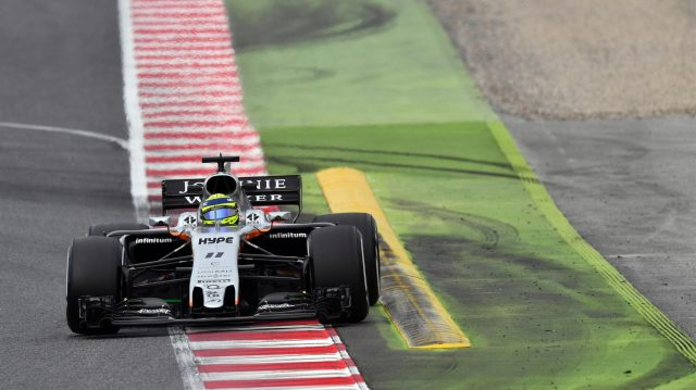 Sergio Perez (MEX) Force India VJM10 at Formula One Testing, Day Two, Barcelona, Spain, 8 March 2017. &copy&#x3b; Sutton Images
