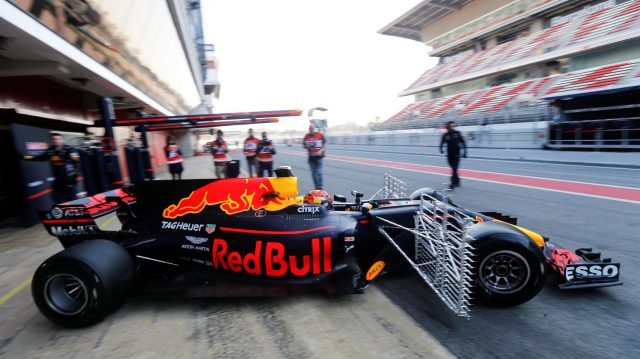 Max Verstappen (NED) Red Bull Racing RB13 with aero sensors at Formula One Testing, Day Four, Barcelona, Spain, 10 March 2017. &copy&#x3b; Sutton Images