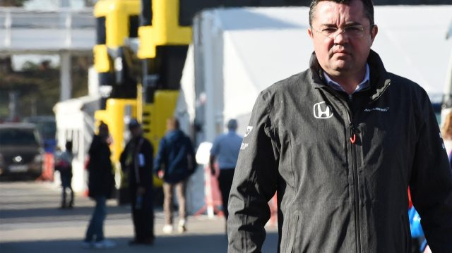 Eric Boullier (FRA) McLaren Racing Director at Formula One Testing, Day Four, Barcelona, Spain, 10 March 2017. &copy&#x3b; Sutton Images