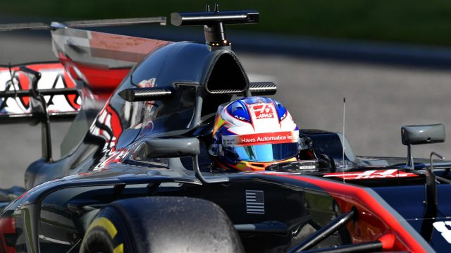 Romain Grosjean (FRA) Haas VF-17 at Formula One Testing, Day Four, Barcelona, Spain, 10 March 2017. &copy&#x3b; Sutton Images