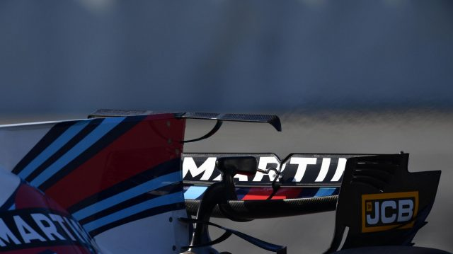 Williams FW40 rear wear wing detail at Formula One Testing, Day Four, Barcelona, Spain, 10 March 2017. &copy&#x3b; Sutton Images
