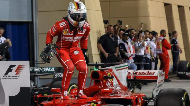 Sebastian Vettel is the first Ferrari driver to win two of the opening three races since Michael Schumacher in 2004. &copy&#x3b; Sutton Motorsport Images