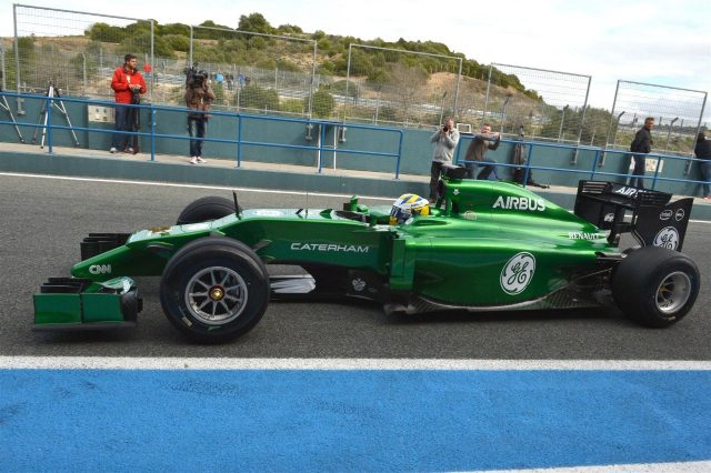 Marcus Ericsson (SWE) Caterham CT05. Formula One Testing, Jerez, Spain, Day One, Tuesday, 28 January 2014. © Sutton Images
